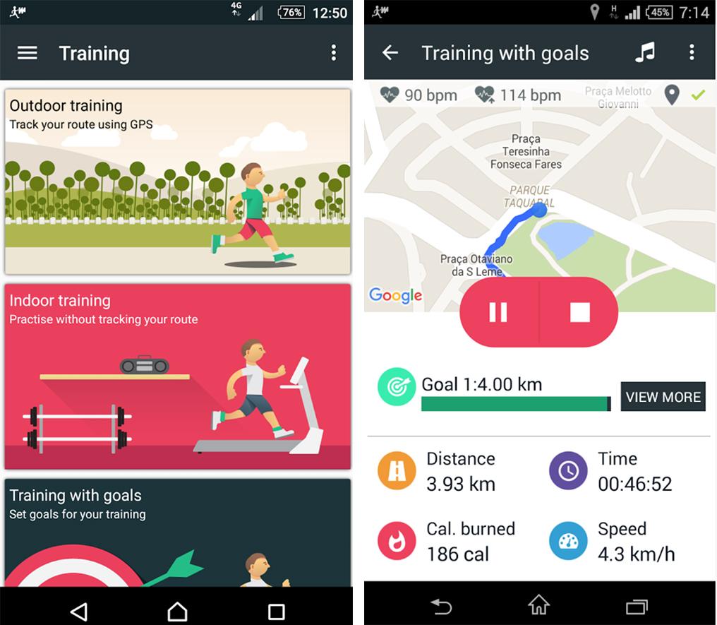 Sony Walkmate app - Material Design UI