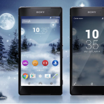 Xperia Frozen Christmas and Y Theme X Material Edition