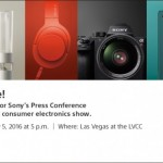 Sony to hold CES 2016 Press Conference on 5 Jan