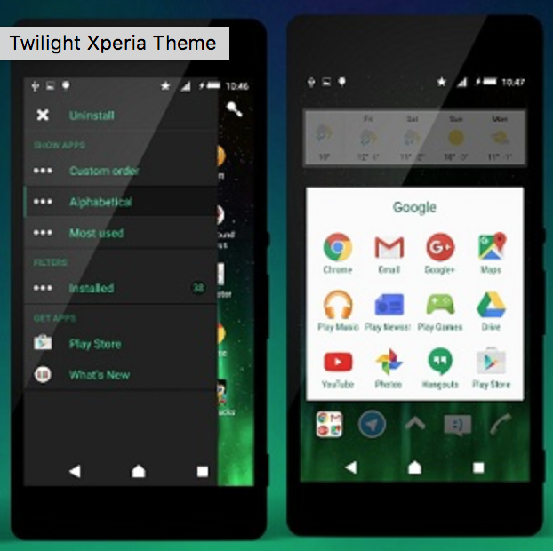 Download Xperia Twilight Theme