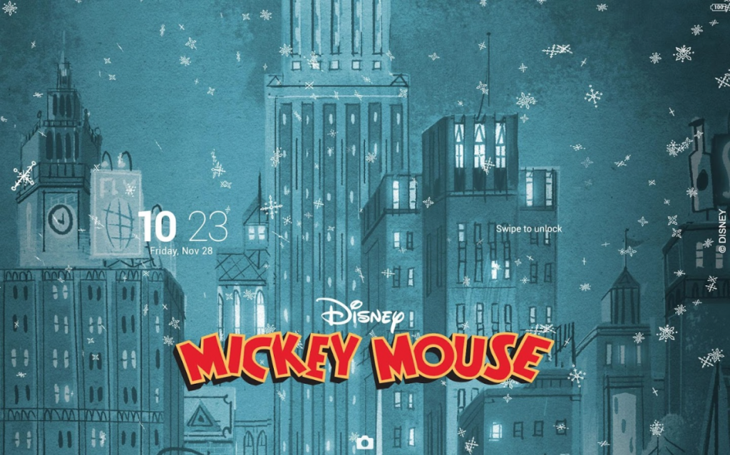 Xperia Mickey Holidays Theme Pictures