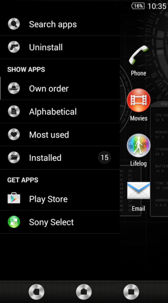 Sony Xperia Secret Agent Theme