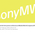 Sony's MWC 2016 Press conference on February 22nd at 08:30 CET – Media Invites sent