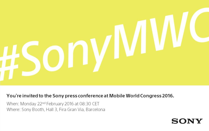 Sony MWC 2016 Press Conference