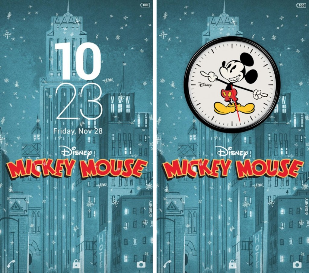 Download Xperia Mickey Holidays Theme
