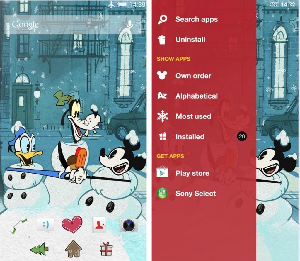 Xperia Mickey Holidays Theme apk