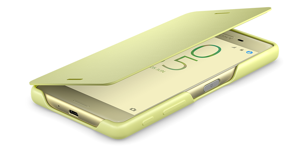 Flip Cover Xperia X Table Top Lime Gold