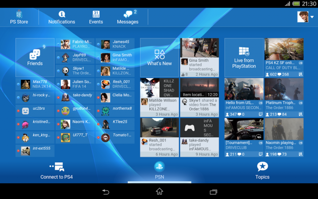 Sony PlayStation App 3.20.0 version apk