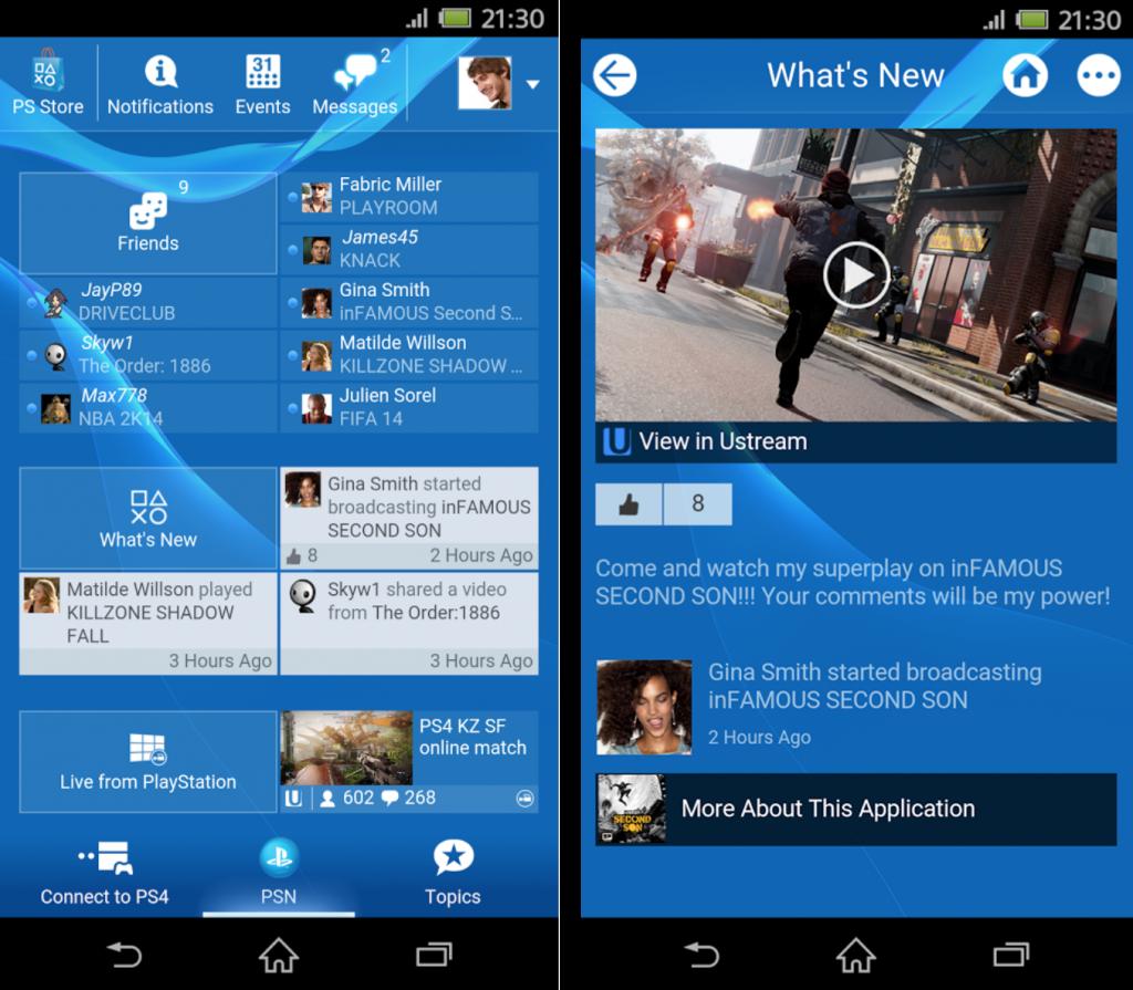 Sony PlayStation App 3.20.0 version