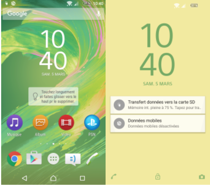 Xperia X Lime Theme