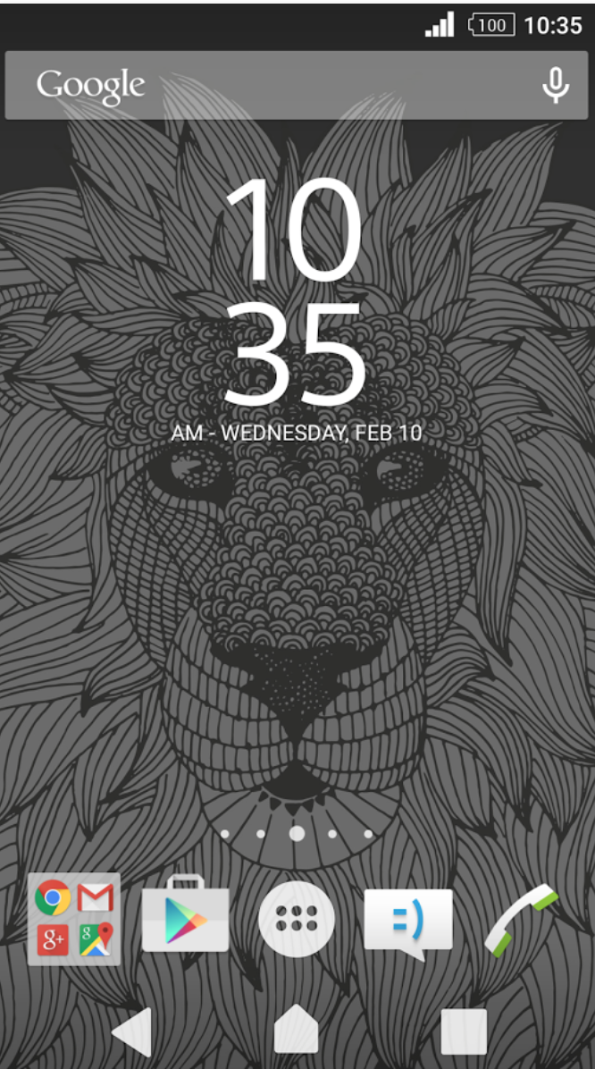 Xperia Lion Theme Schreenshots