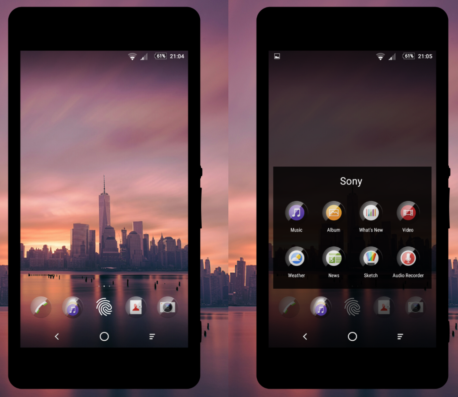 Icon Pack Glass 2 for Xperia Home Launcher