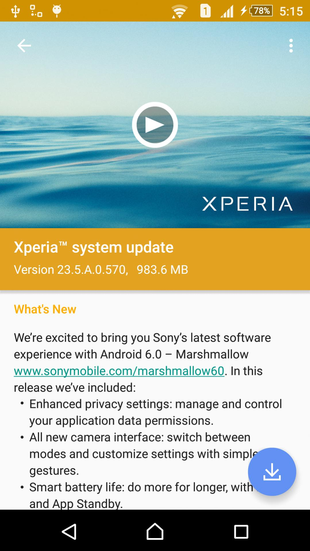 23.5.A.0.570 firmware update for Xperia Z3 Dual