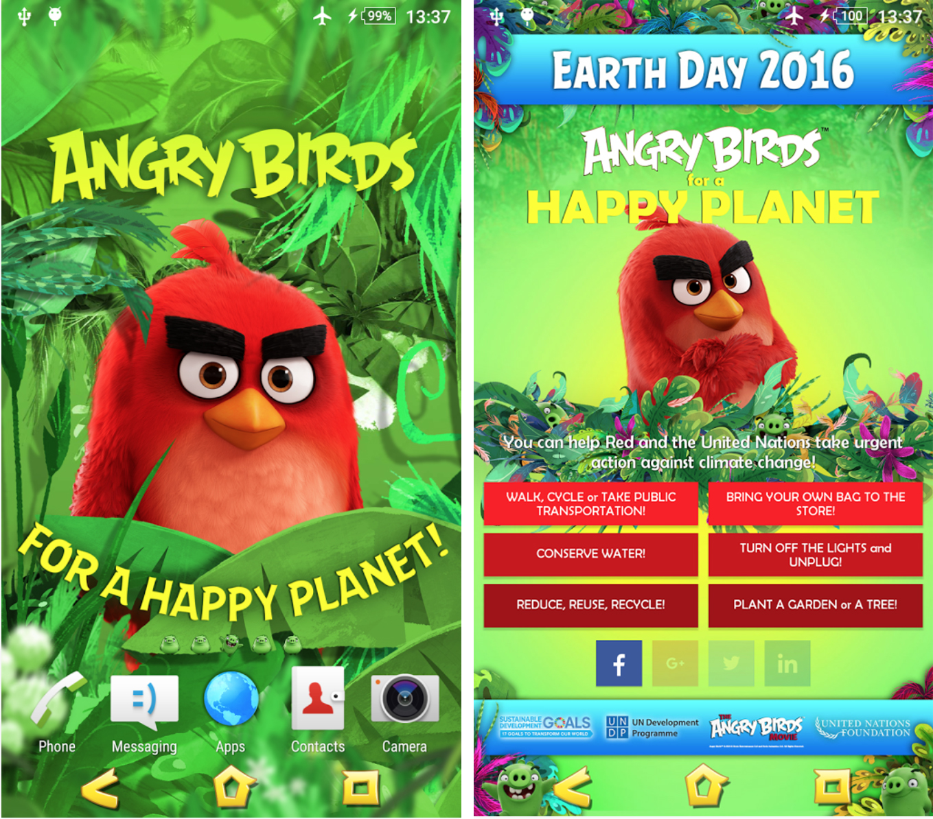 Angry Birds Xperia Theme