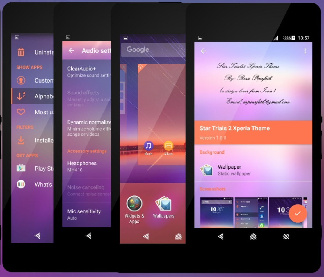 Download Star Trials 2 Xperia Theme