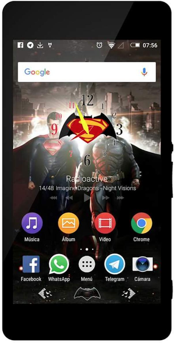 Super Man vs Batman Clock WidgetSuper Man vs Batman Clock Widget