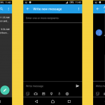 Black themed message and phonebook app for Xperia Z2, Z3, Z3 Compact