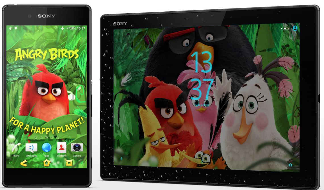 Angry Birds Happy Planet Xperia Theme