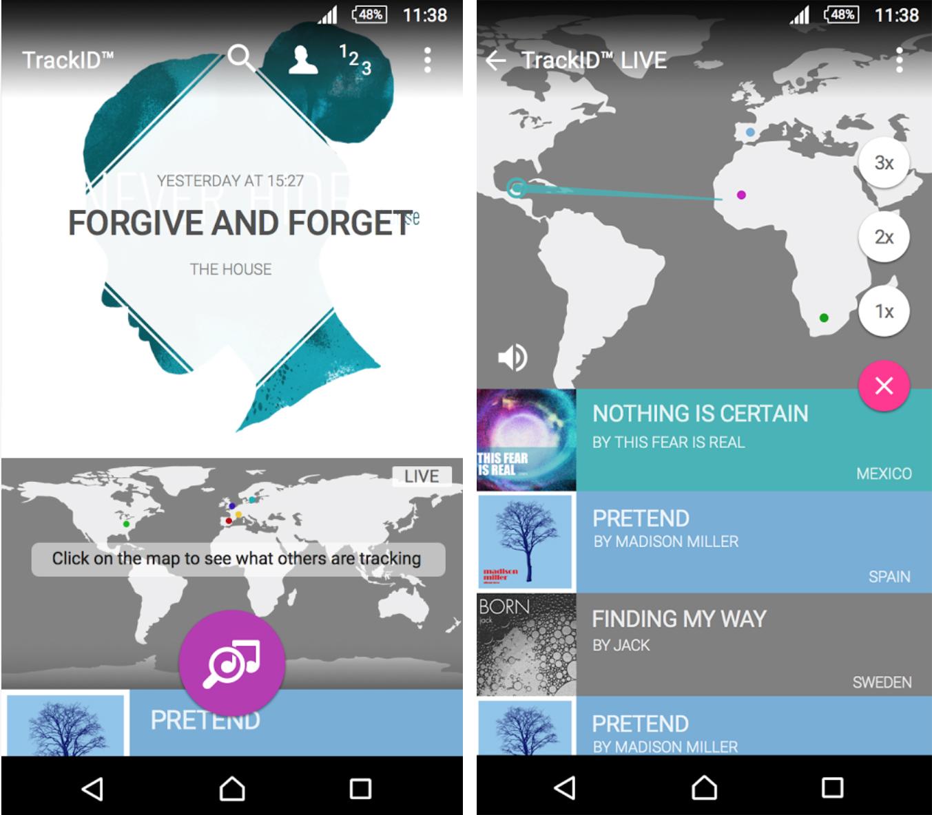 Sony TrackID App update