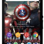 Xperia Captain America Civil War Theme & Clock Widget