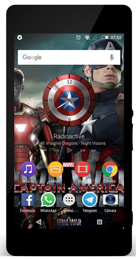 Xperia Captain America Theme