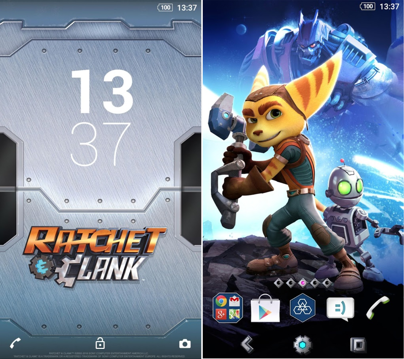 Xperia Ratchet & Clank Theme