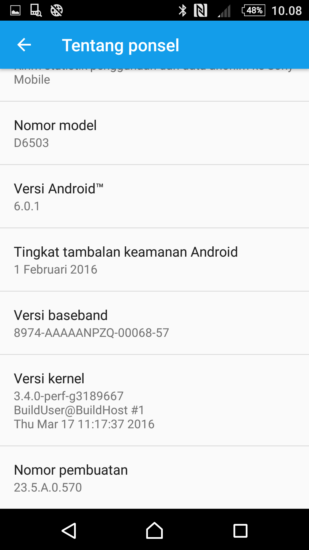 Xperia Z2 Android 6.0.1 Marshmallow 23.5.A.0.570
