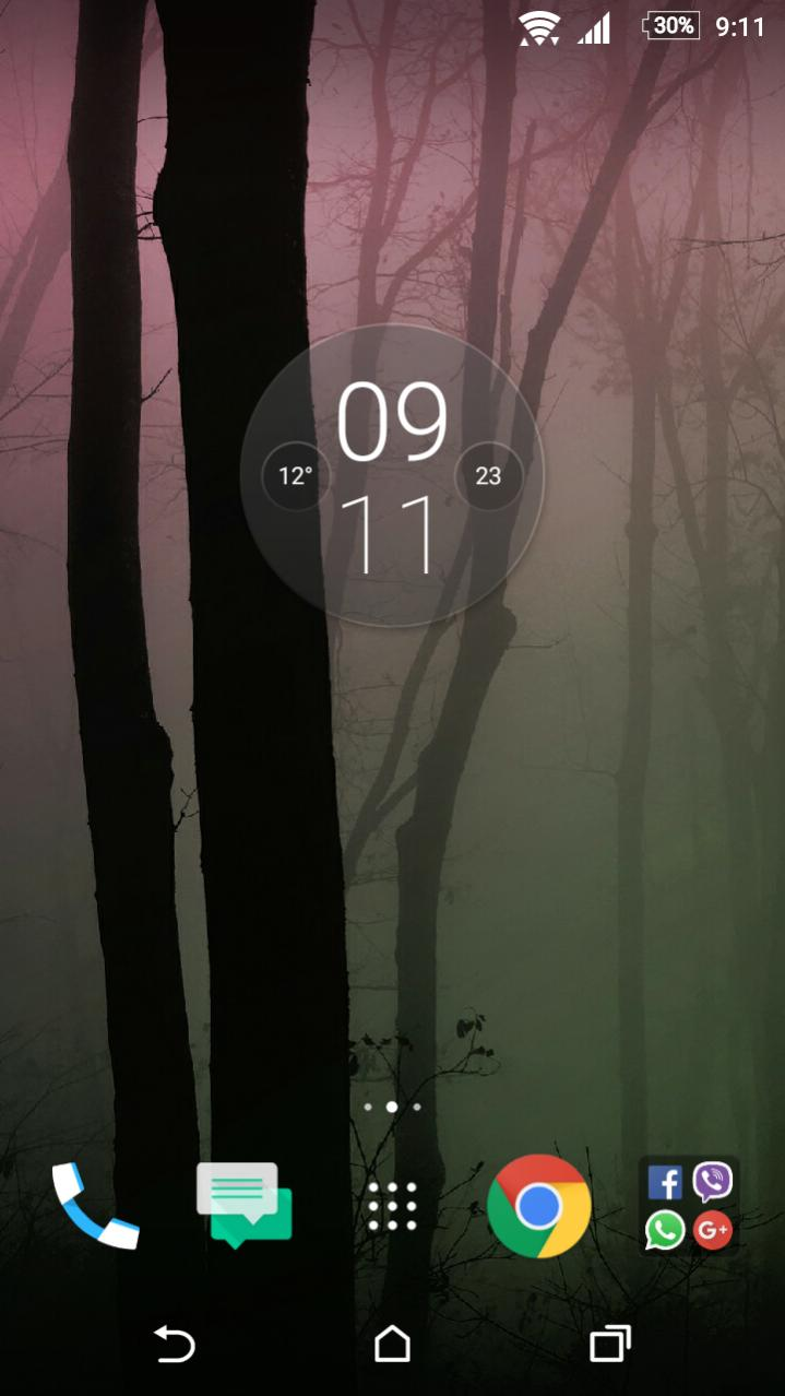 Moto G4 Plus Clock Widget