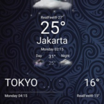 Sony stock weather widget in transparent mode ported