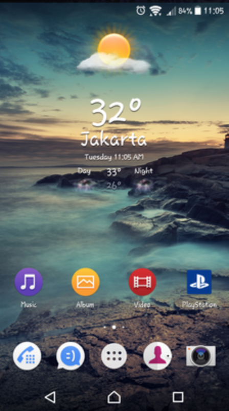 Install Sony stock weather widget App