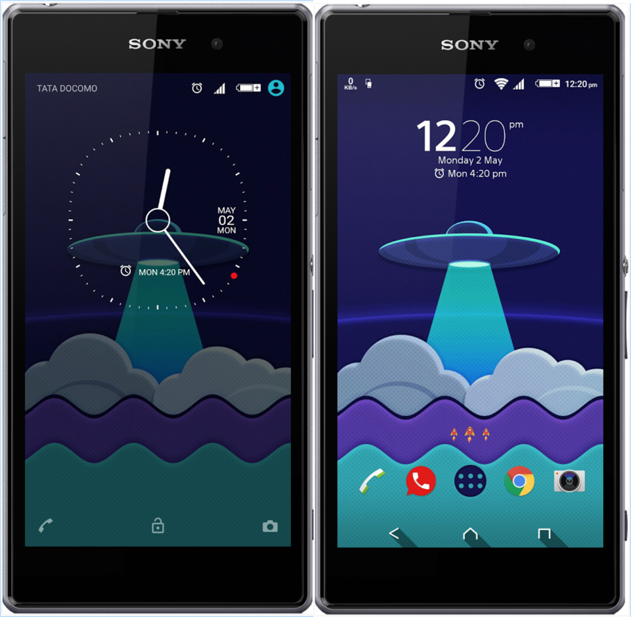 Xperia Materia SpaceShip Theme