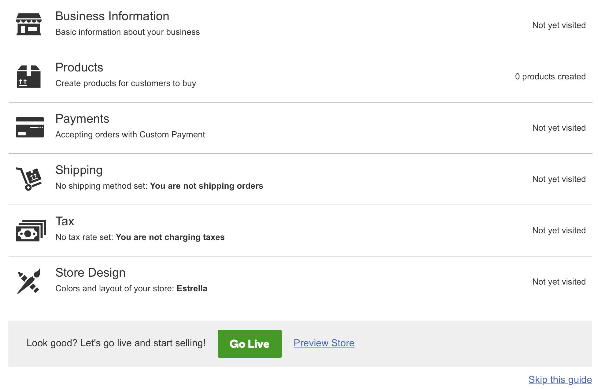 GoDaddy Online Store Guide