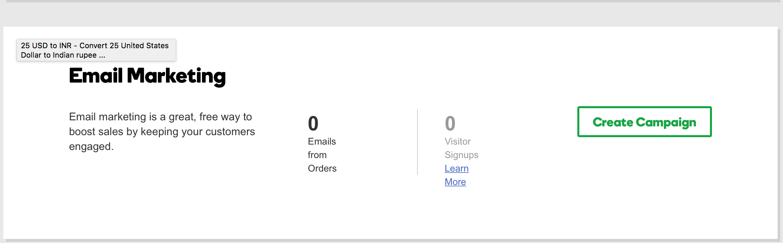 GoDaddy Online Store Email Marketing