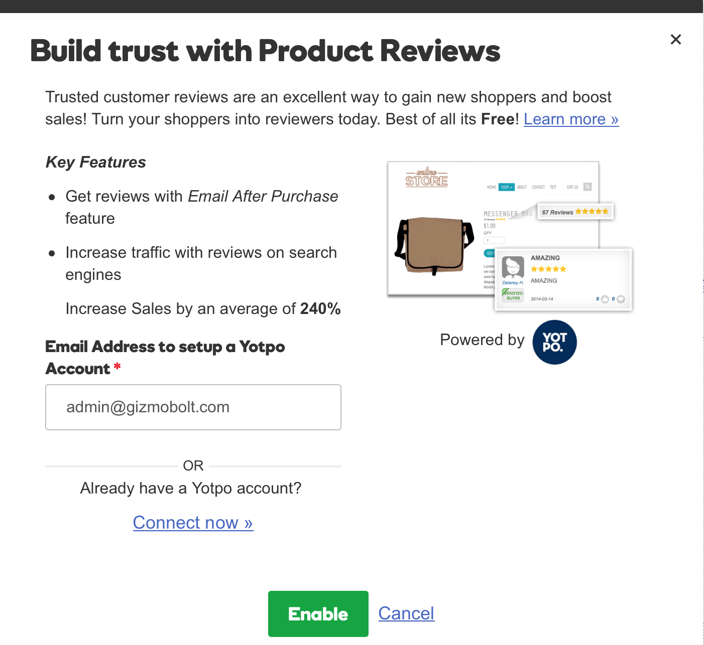 GoDaddy Online Store Product Reviews