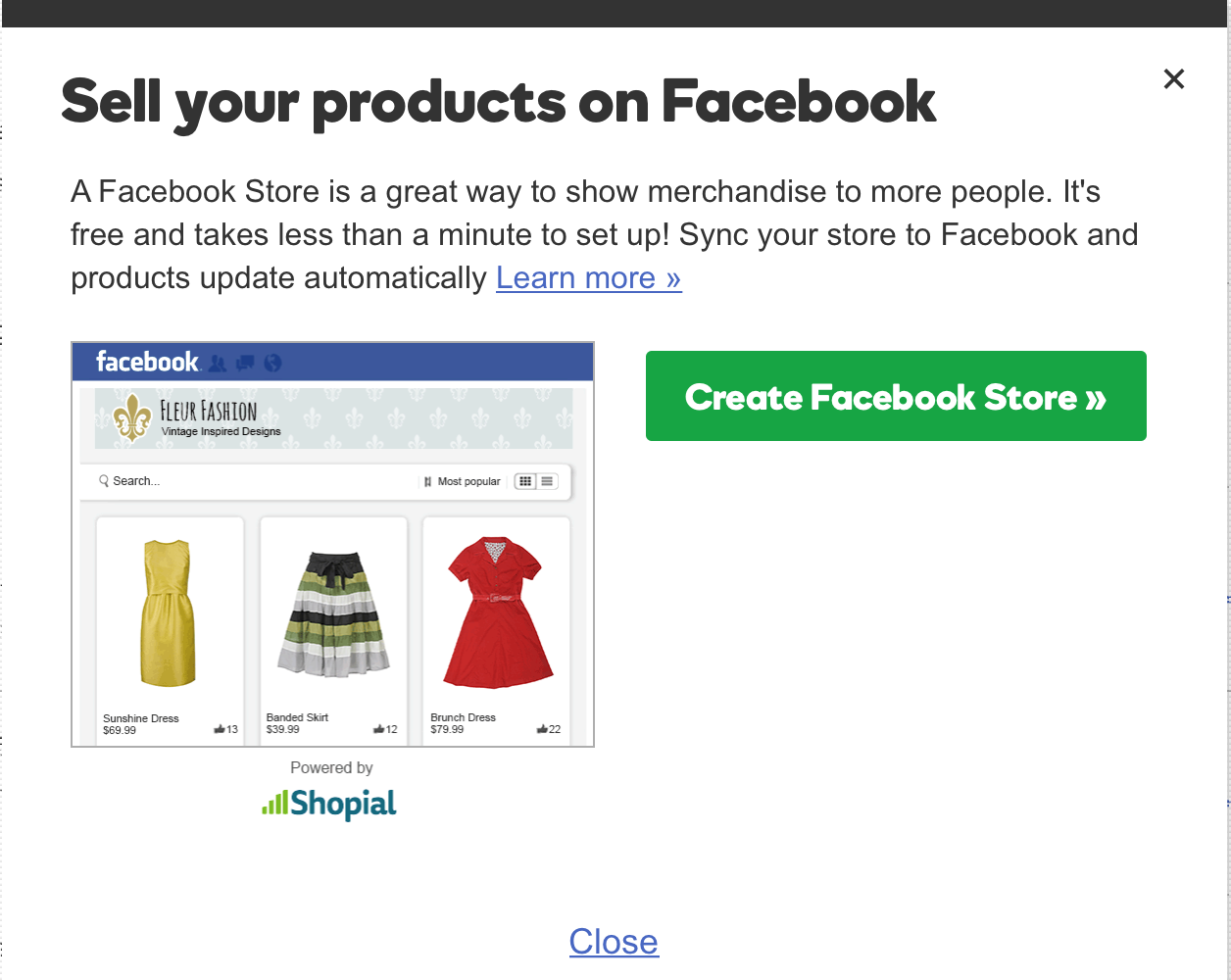 GoDaddy Online Store Sell on Facebook Set Up