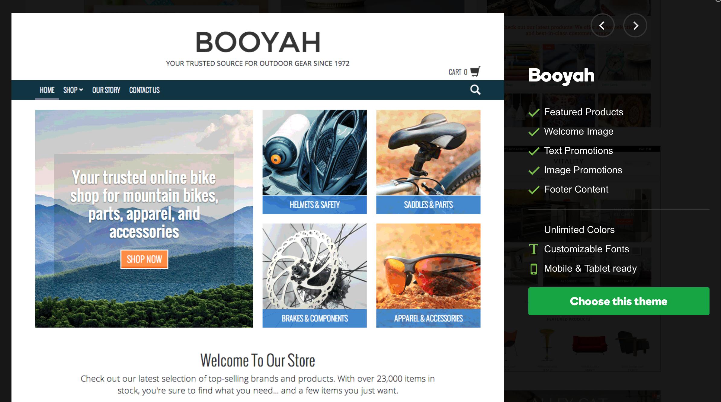 GoDaddy Online Store - Booyah Theme