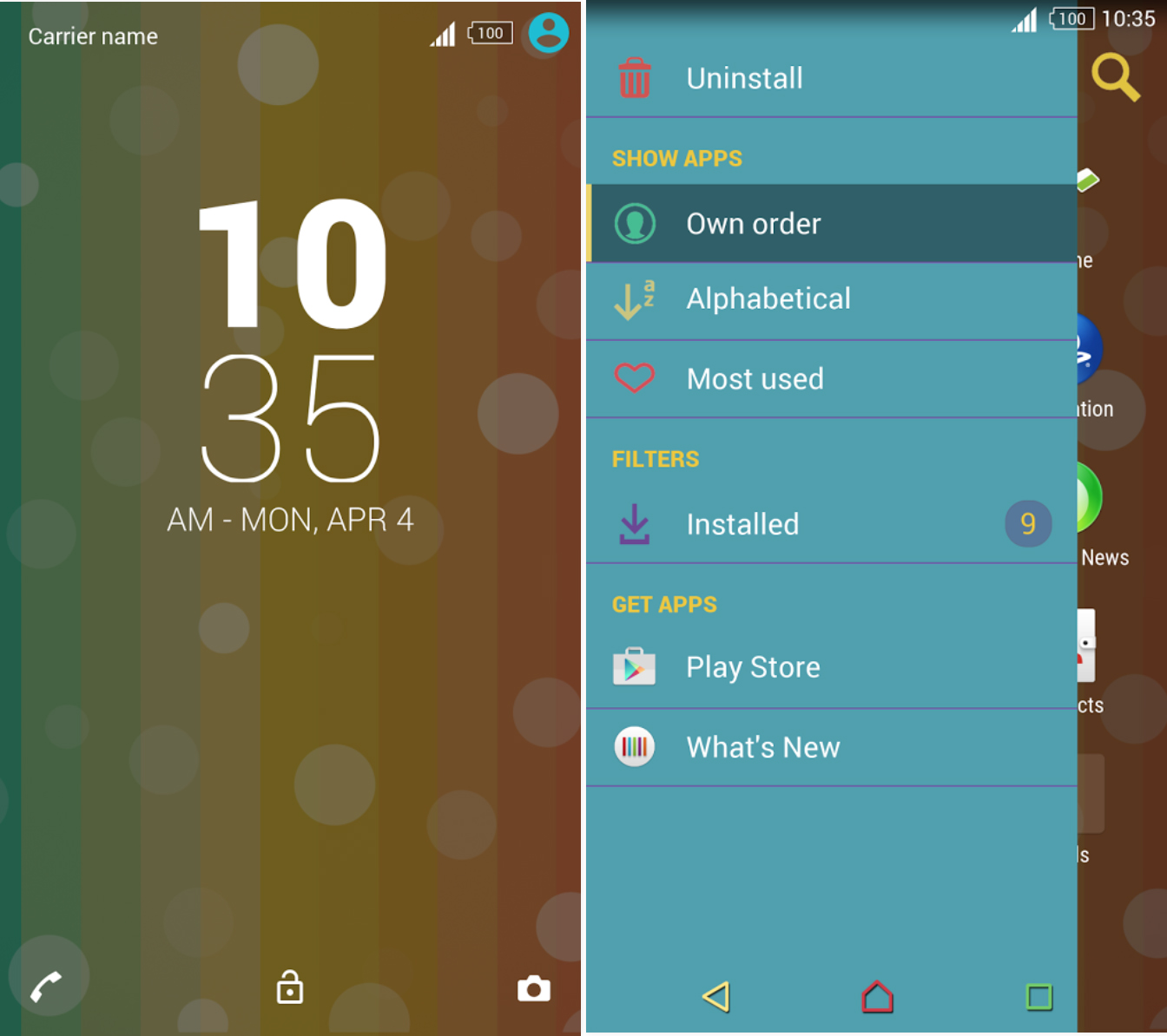 Xperia Rainbow Theme