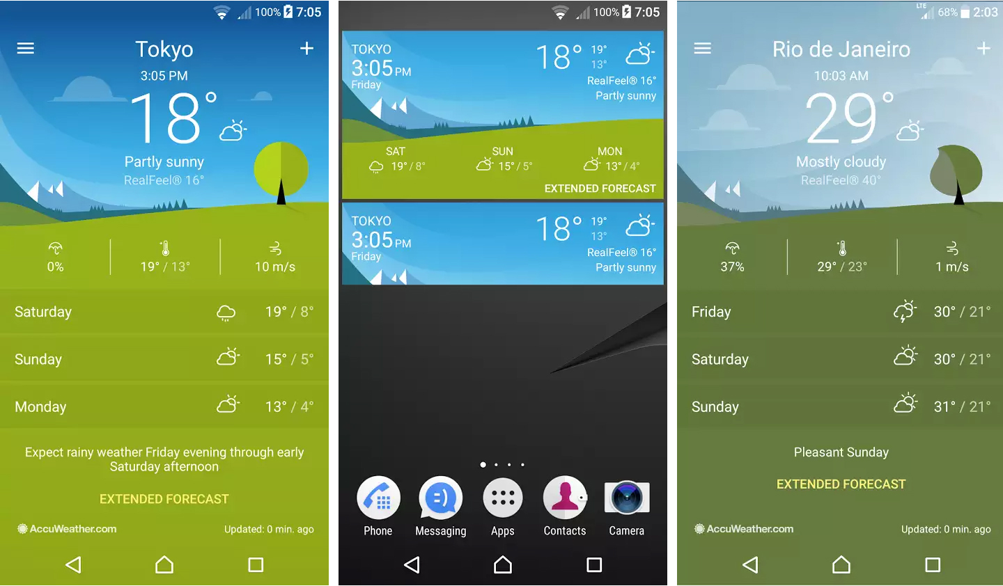 Sony Xperia Weather 1.1.A.0.40 app update
