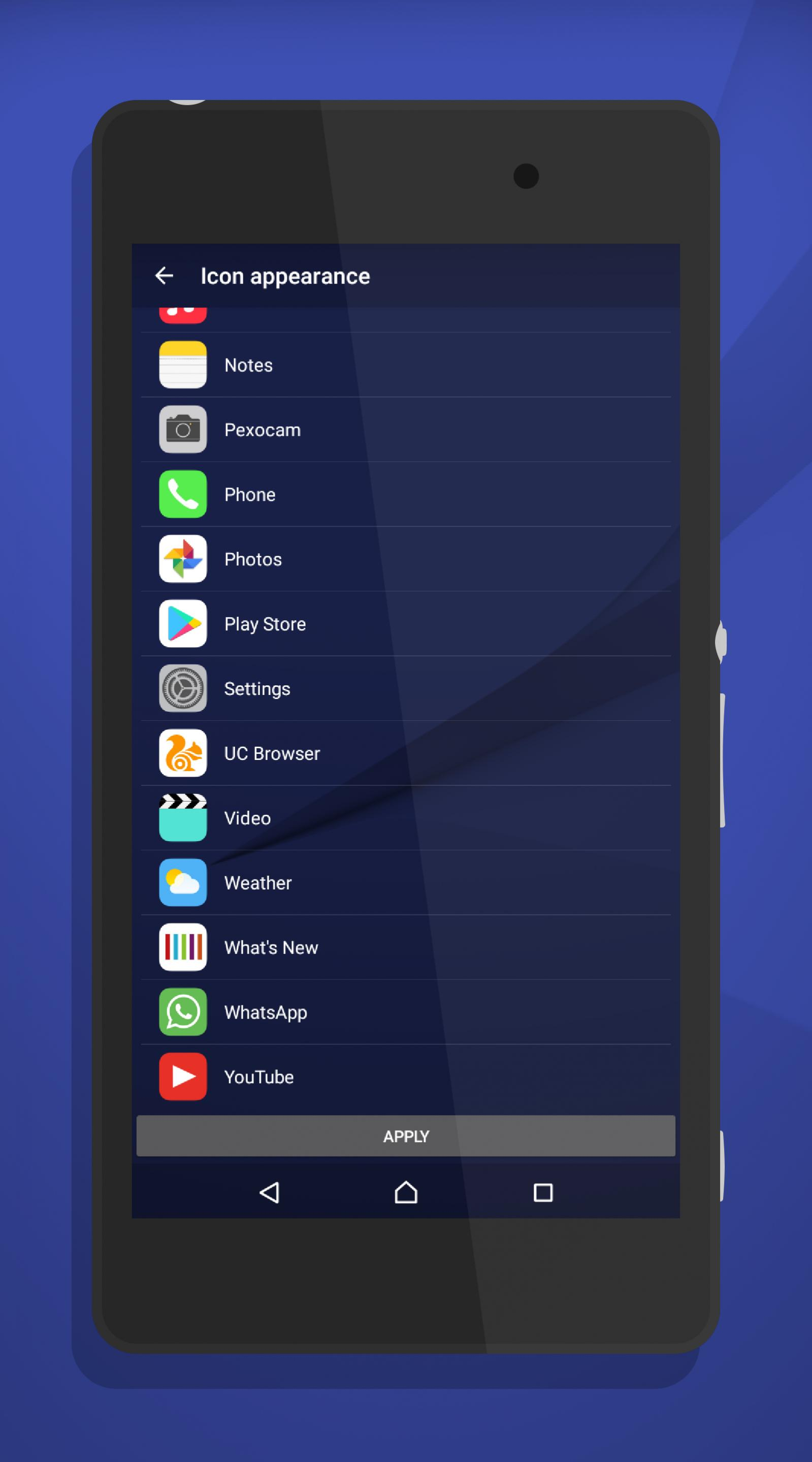 iOS Style Icon Pack for Sony Xperia Home Launcher