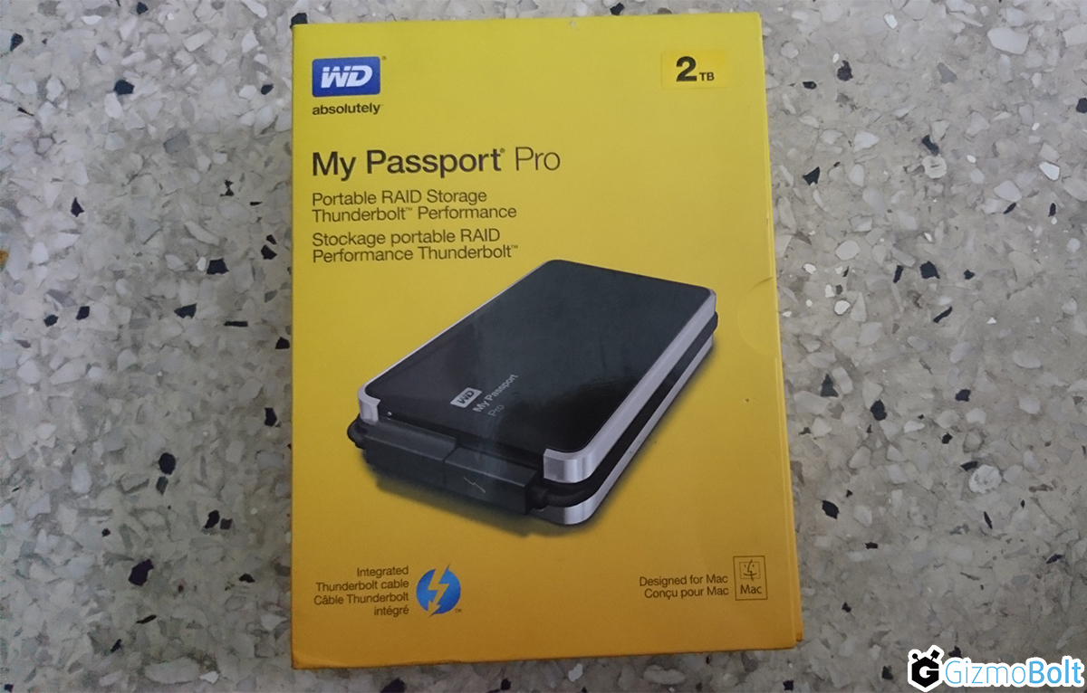 wWestern Digital My Passport Pro Unboxing