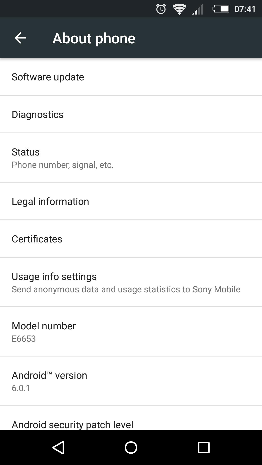 Xperia Z5 32.2.A.0.224 firmware update