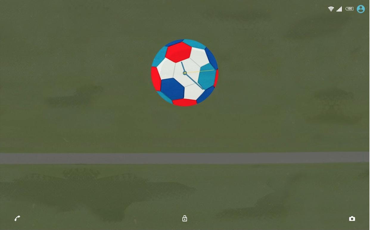 Xperia Football Analog Clock