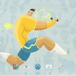 Xperia Tennis Theme 2016