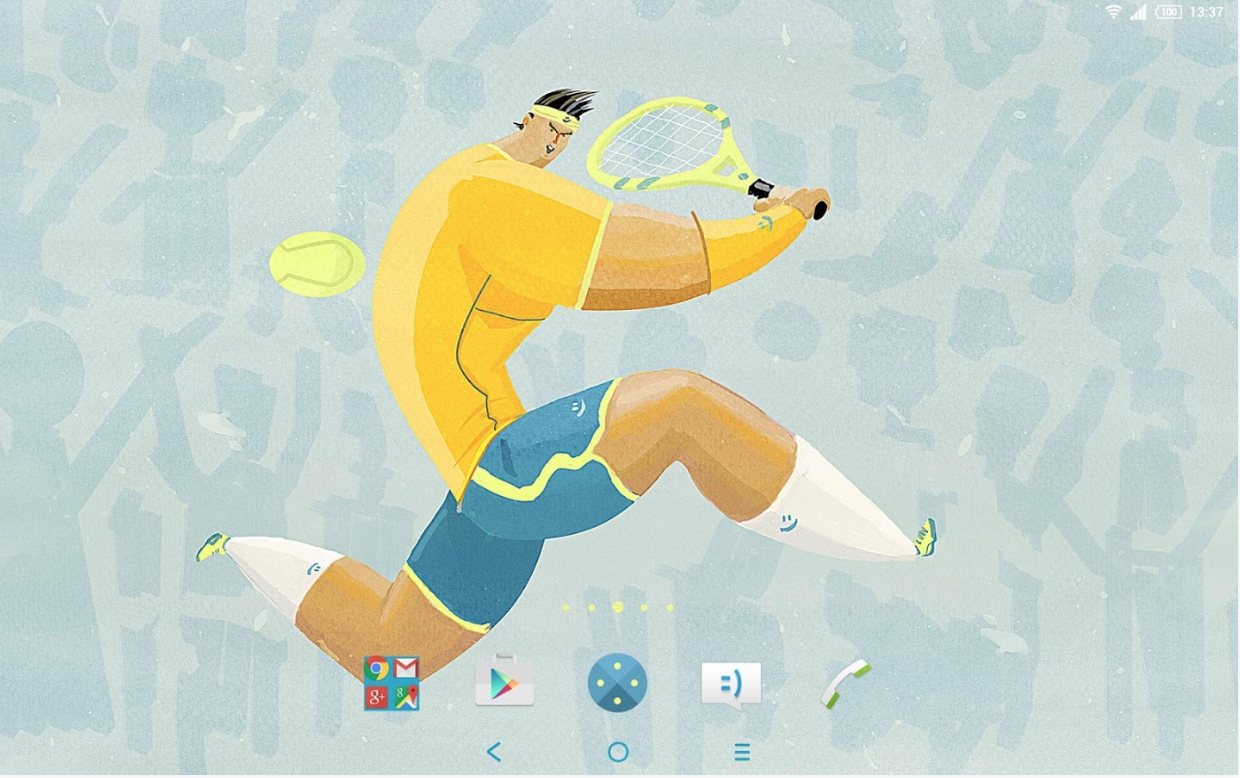 Xperia Tennis Theme 2016