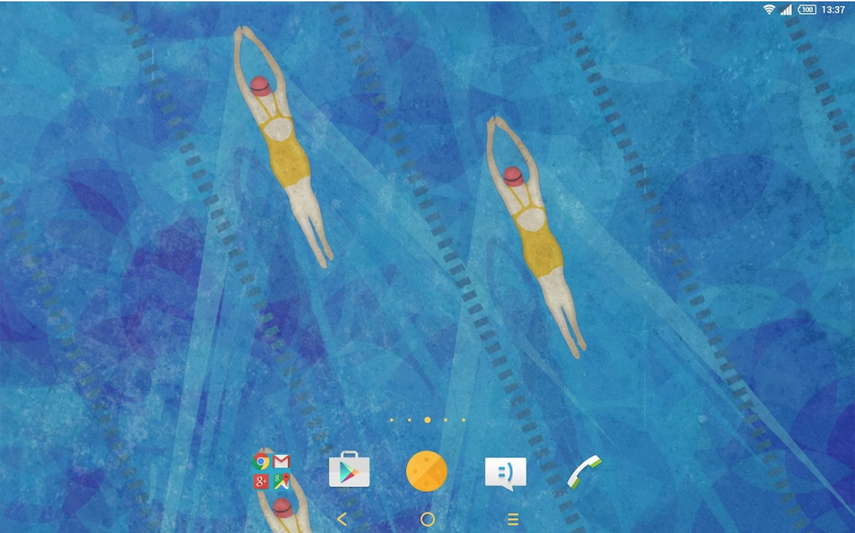 Download Xperia Swimming Theme