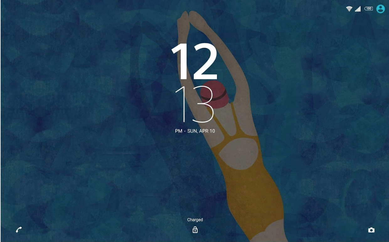 Xperia Swimming Theme Lockscreen