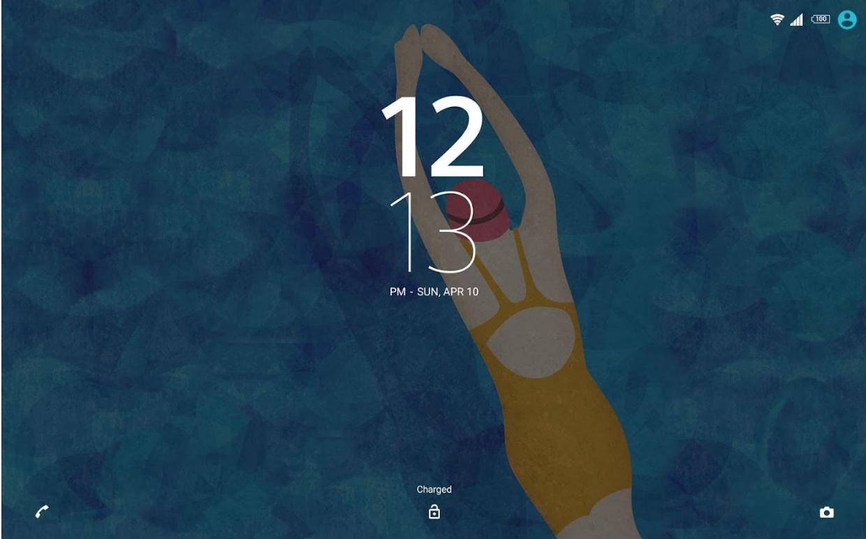 Xperia Swimming Theme Lockscreen