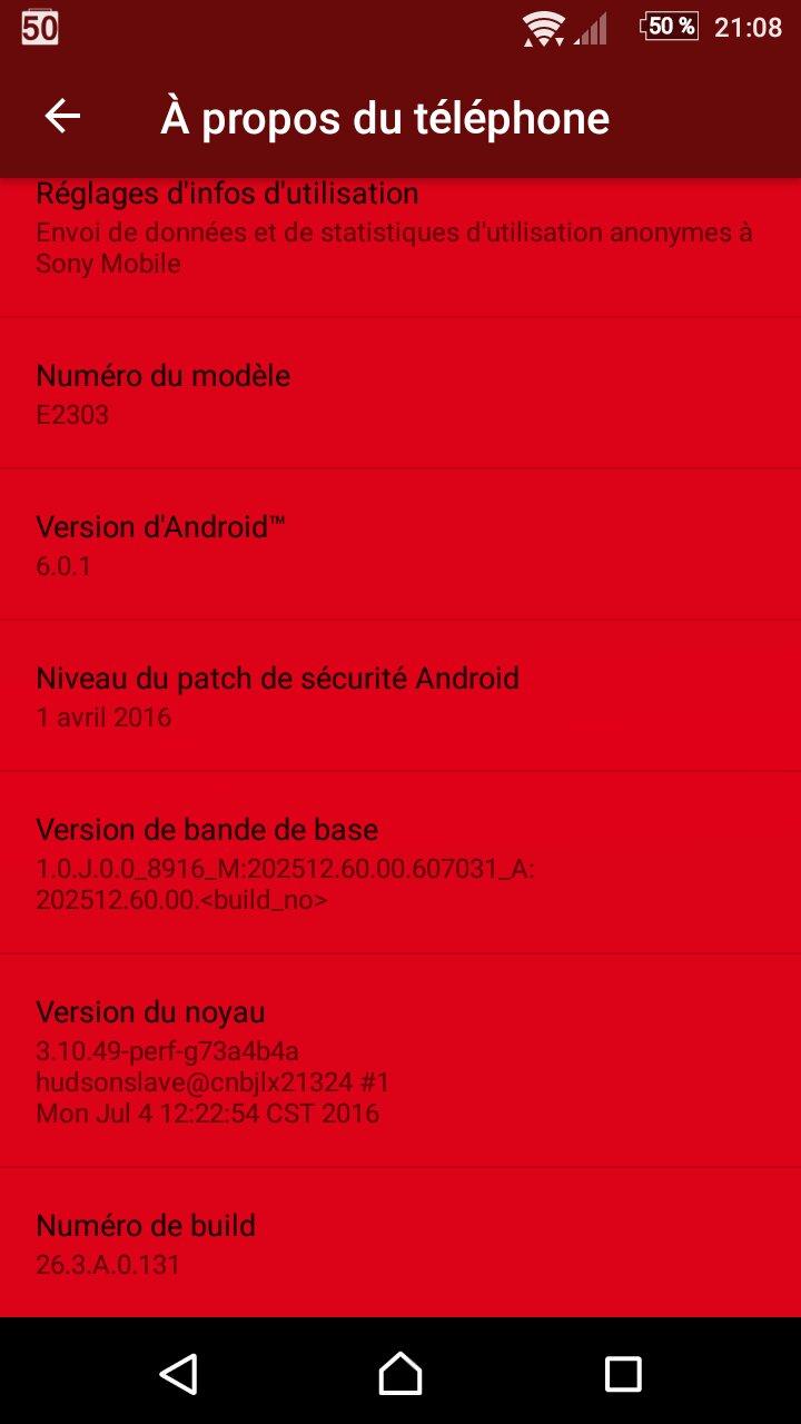 Xperia M4 Aqua 26.3.A.0.131 Firmware update