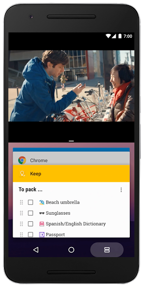 Android 7.0 Split-screen