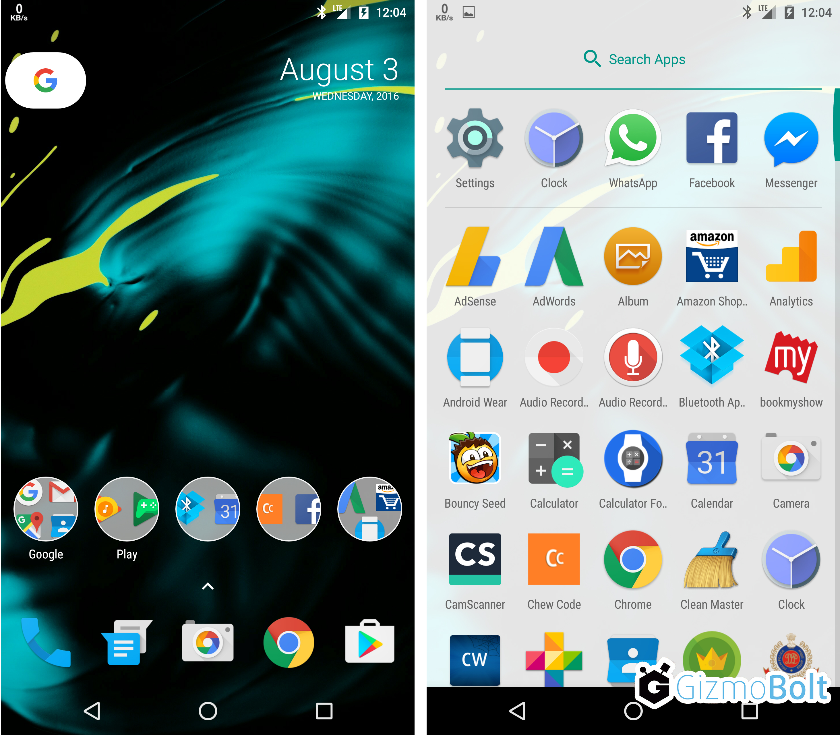 Android 7 Nexus Launcher